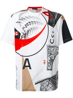 футболка с абстрактным рисунком Versace