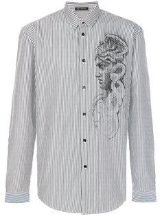 полосатая рубашка Medusa  Versace