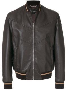 куртка-бомбер с логотипом в кубистском стиле Versace