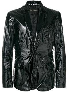пиджак с лакированной отделкой Versace