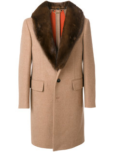 пальто с лацканами-шалькой Versace