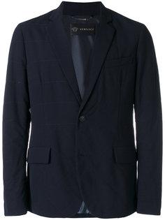 стеганая куртка с карманом на груди Versace