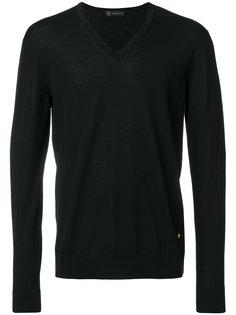 свитер узкого кроя с V-образным вырезом Versace