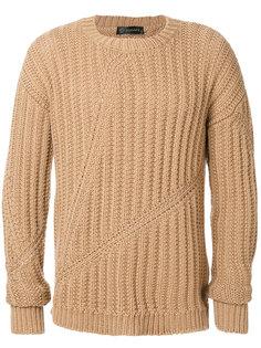 вязаный свитер Cross Rib Versace