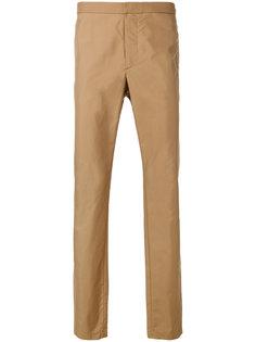 брюки-чинос с простроченной отделкой Versace