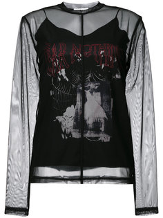 прозрачный топ Fear Nothing McQ Alexander McQueen