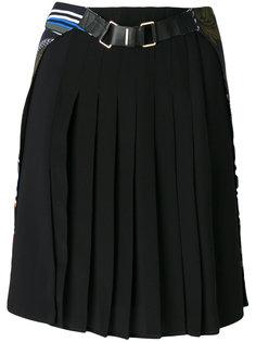 юбка в складку с рисунком Cityscape Versace