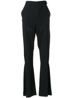 расклешенные от колена брюки Versace