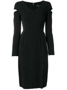 платье с шлицами на рукавах Versace