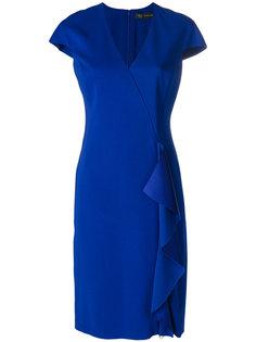 платье с оборочной отделкой Versace