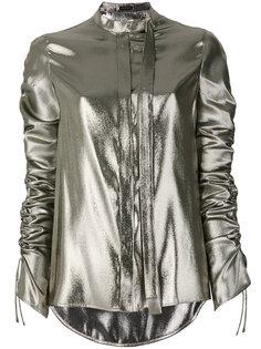 блузка со сборкой на рукавах Versace