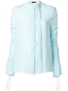 блузка с присборенными рукавами Versace