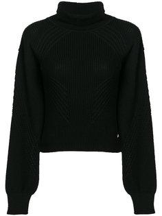 свитер с воротником с заворотом Versace