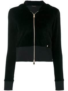 велюровая толстовка с капюшоном Versace