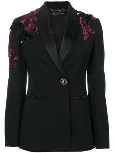 пиджак с вышивкой Baroque Versace