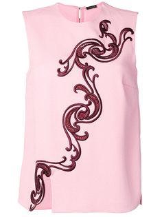 блузка с вышивкой Baroque Versace
