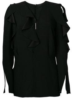 блузка с оборочной отделкой Versace