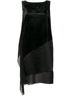 платье шифт со вставками  Lanvin