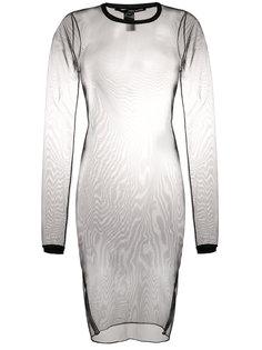 вязаное платье с деталями из тюля Isabel Benenato