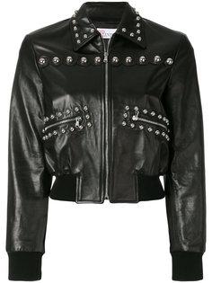 укороченная куртка с заклепками  Red Valentino