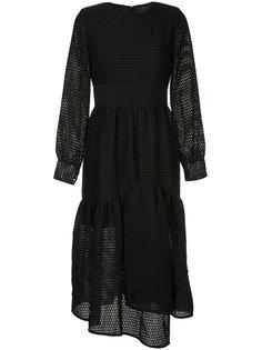 расклешенное многослойное платье  Goen.J