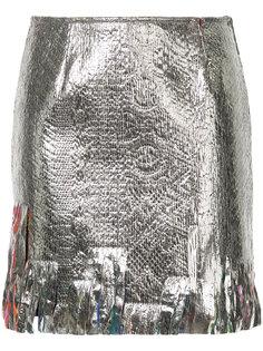 мини-юбка с отделкой  Goen.J