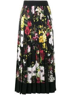 плиссированная юбка с завышенной талией с цветочным принтом Dolce & Gabbana