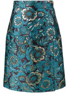 юбка с жаккардовым цветочным узором Dolce & Gabbana