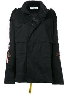 куртка с цветочной вышивкой Off-White