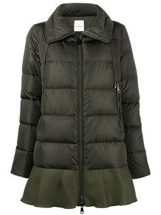 дутое пальто с оборкой  Moncler