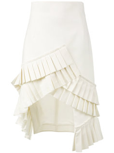 асимметричная юбка с плиссировкой Jacquemus