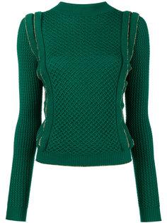 свитер вафельной вязки с оборкой  Philosophy Di Lorenzo Serafini