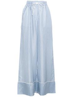 пижамные брюки в полоску с высокой талией Sacai