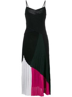платье с V-образным вырезом и тонкими бретельками  Proenza Schouler