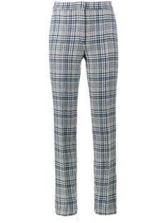 брюки с завышенной талией и принтом тартан  Off-White