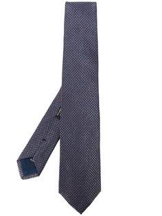 галстук с мелким принтом Corneliani