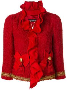 твидовый жакет с оборками Dolce & Gabbana