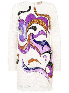 платье мини с отделкой пайетками  Emilio Pucci