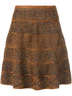 расклешенная юбка с принтом  D.Exterior