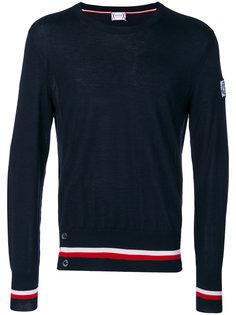 свитер с отделкой в полоску Moncler Gamme Bleu