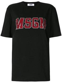футболка с логотипом  MSGM