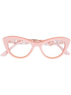 декорированные очки с цветочными деталями Dolce & Gabbana Eyewear