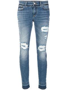 джинсы кроя слим с потертой отделкой Dolce & Gabbana