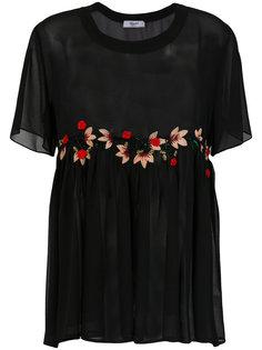 прозрачная юбка с вышивкой Blugirl