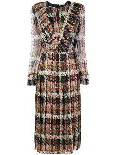 платье со сборками на воротнике Blumarine