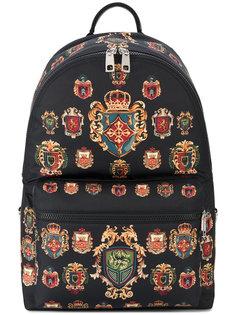 рюкзак с принтом гербов Vulcano Dolce & Gabbana