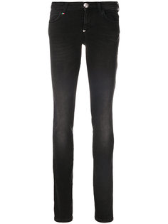 джинсы с вышивкой пайетками  Philipp Plein