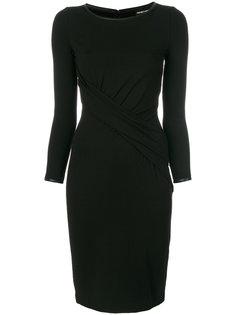 приталенное платье-миди Emporio Armani
