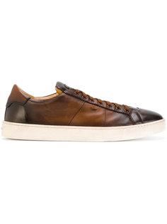 кроссовки на шнуровке Premium Santoni