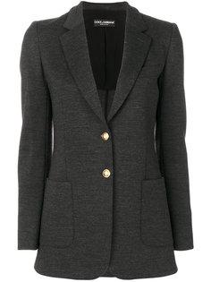 пиджак с золотистыми пуговицами Dolce & Gabbana
